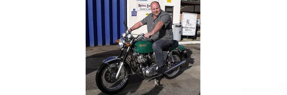 Paul Napier & his 1972 Norton Commando 750 Fastback
