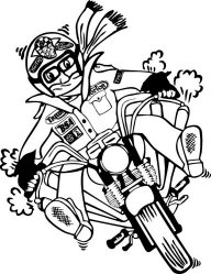 COPDOCK MOTORCYCLE SHOW just incase anyones interested : ) Copdock%20Bike%20Cartoon%20Bw%20small